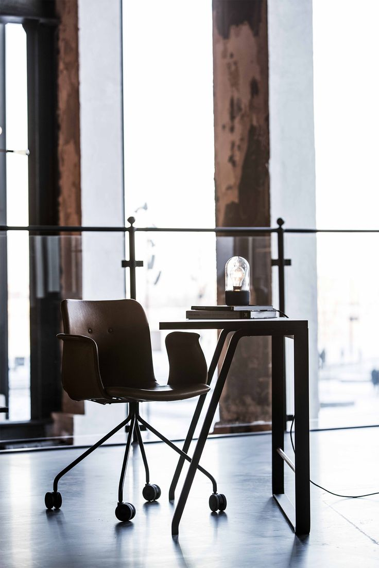 Element Lamp - 3 lamps in 1. Use it as table lamp, wall lamp or pendant . Designed by Ditte Buus Nielsen  Primum Chair and Hemingway desk by Bent Hansen Studio
