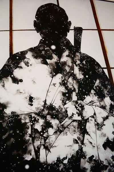 Artist Narcissus Quagliata, Suzuki Roshi Print at San Francisco Zen Center