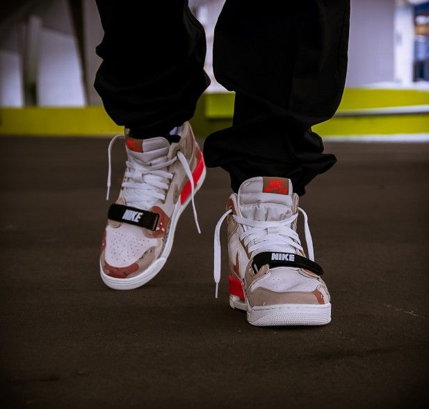 Beiger Nike Air Jordan Legacy 312 Camo