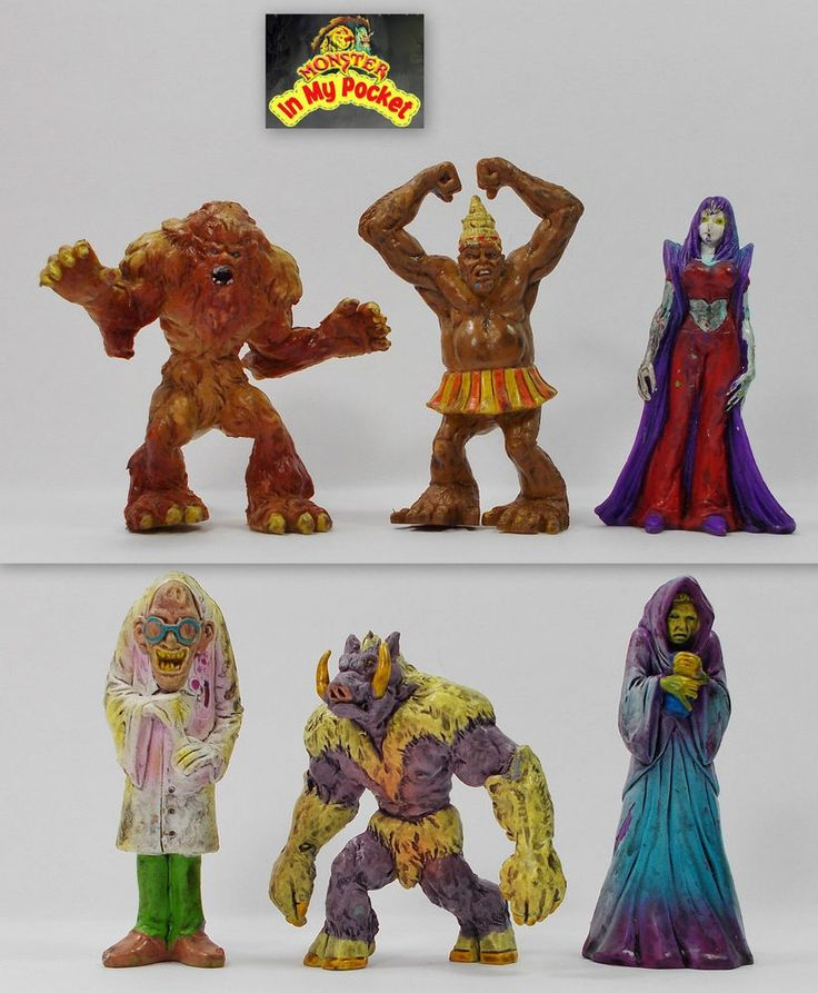 Monster In My Pocket - 2nd Gen 2006 - The Maniacs - Complete set of 6 figures