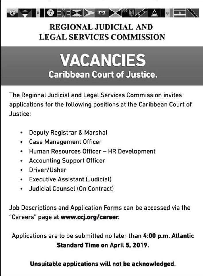 Caribbean Court Of Justice Caribbean Jobs Job Online Jobs