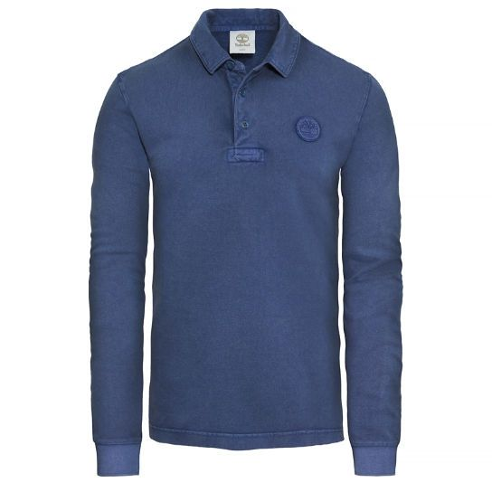 Milford - Long Sleeve Wash Pique Polo Shirt para hombre | www.timberland.es