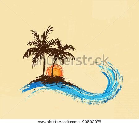 Palm trees – stock vector
