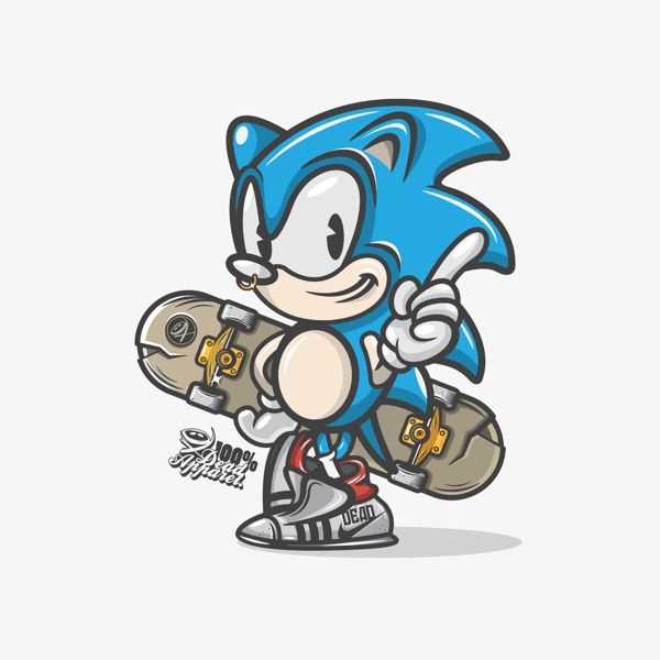 Sonic / Dead Apparel Colab on Behance
