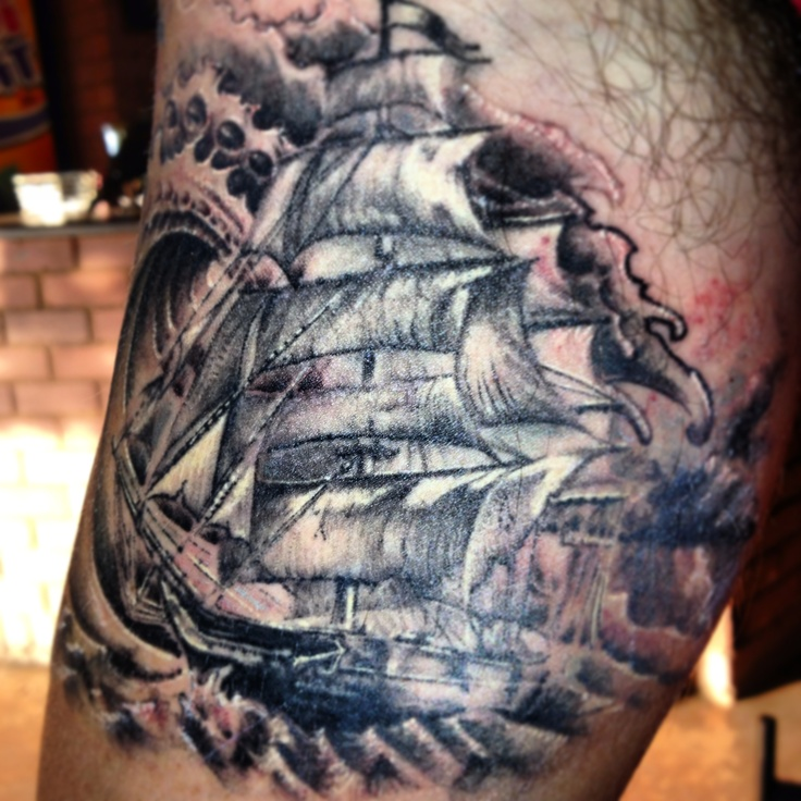 #tattoo #ship #inkedbynate #leestattoostudio