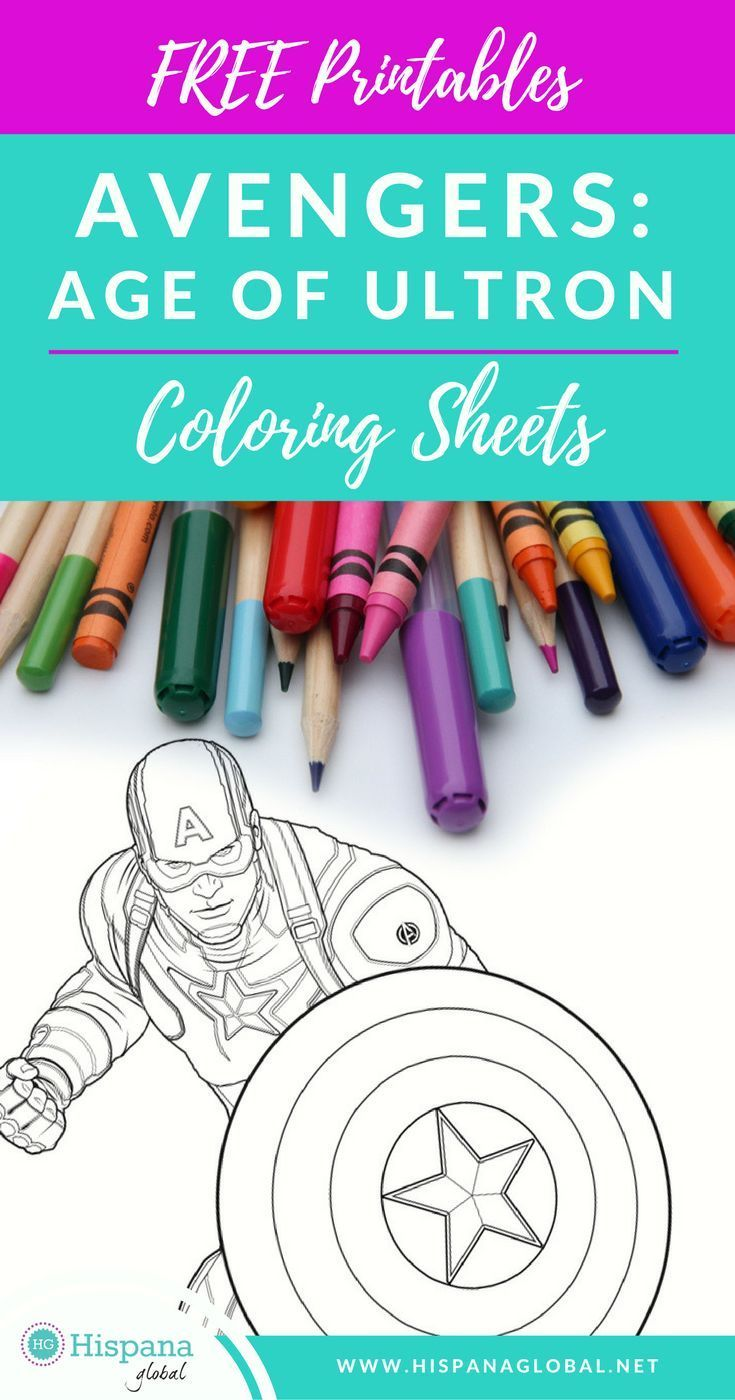 Free printable Avengers: Age of Ultron coloring sheets | Avengers age
