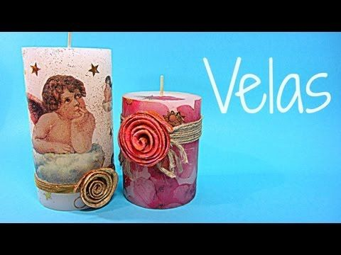 Tutorial: Velas decoradas. Candles decorated. (No olvidar siempre hueco arriba…