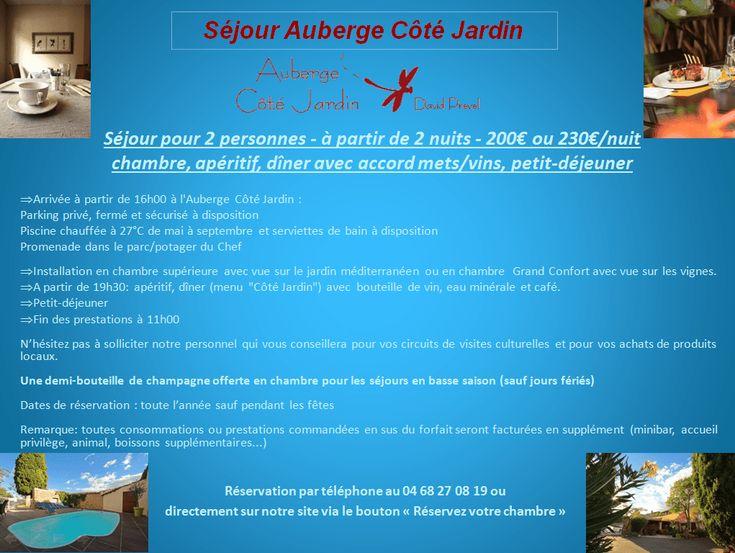 Séjour Auberge Cote Jardin