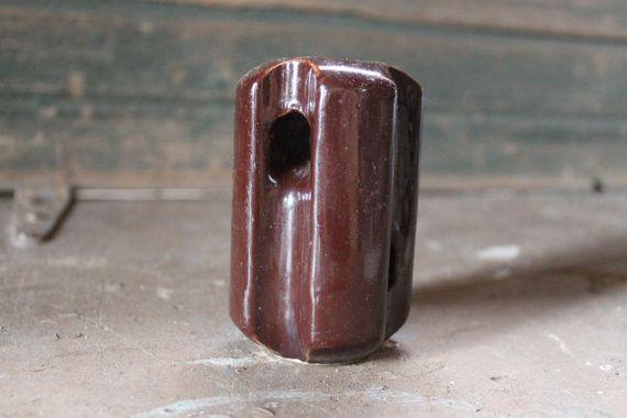 Bullnose porcelain electric insulator