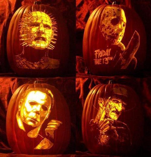 Horror film icon jack o lanterns spooky pinterest