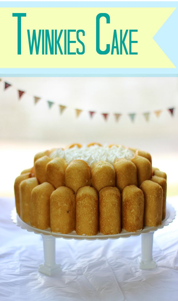 delicious easy to make cake with Twinkies. wow.