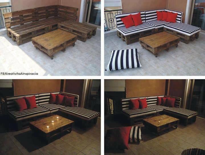 Más ideas con paletas de madera