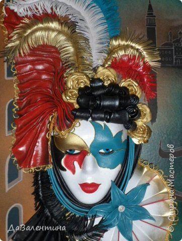 Мастер-класс Коллаж Картина из кожи Венецианский карнавал  Мастер-класс Кожа фото 2
