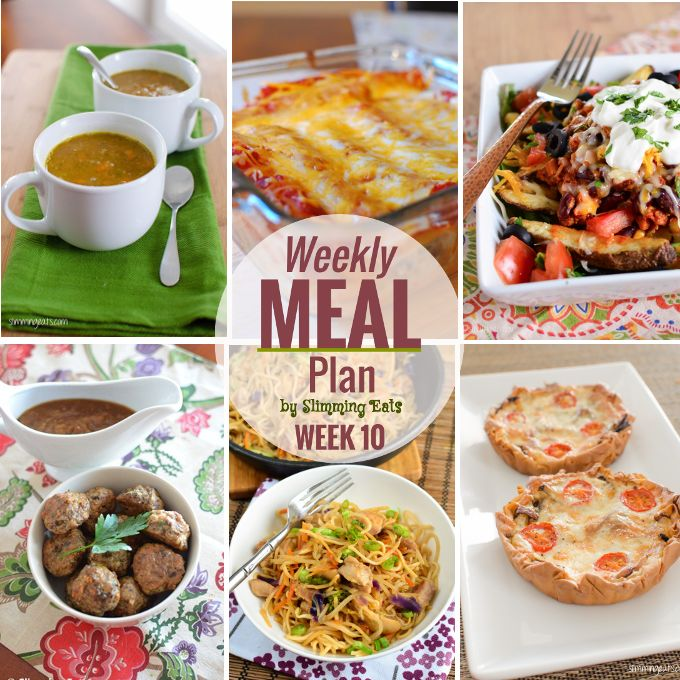Slimming Eats Weekly Meal Plan - Week 10. Slimming World meal plans brought to you by Slimming Eats. All you have to do is enjoy the delicious food.