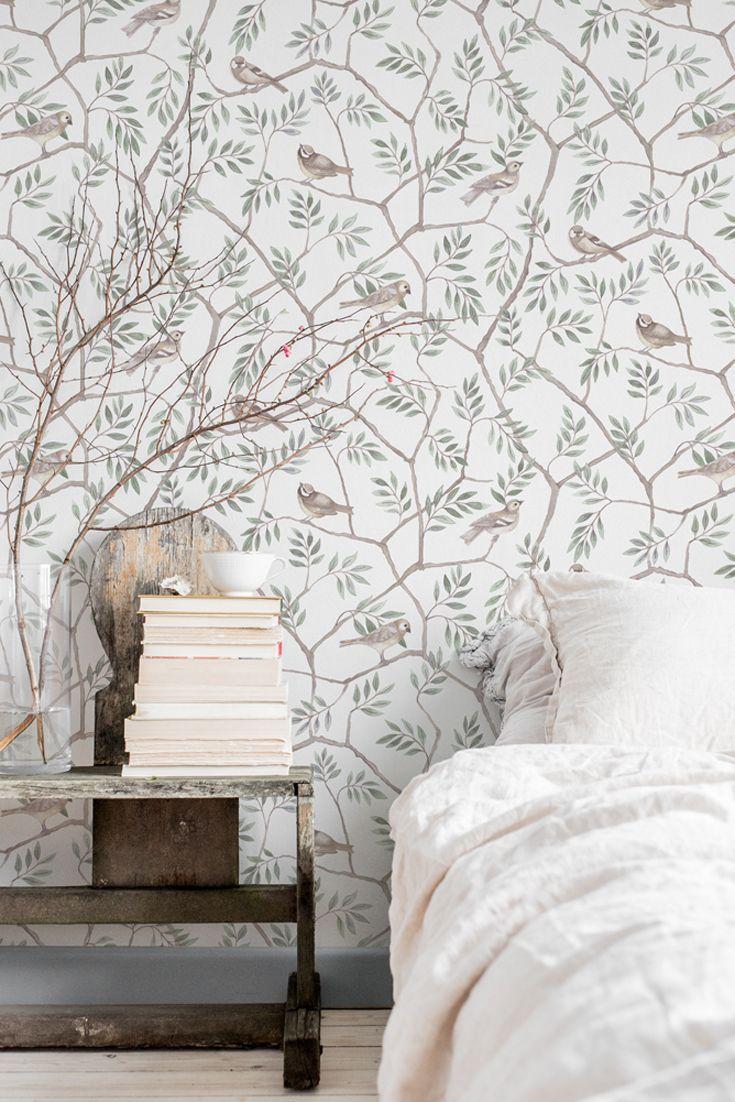 Tapete Maya Grün | Wohnung dekoration, Tapeten landhausstil ...
