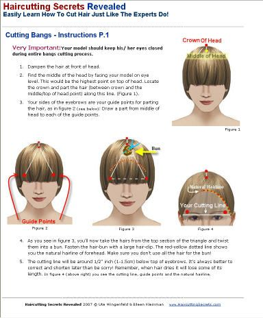 how to cut a fringe yourself at home