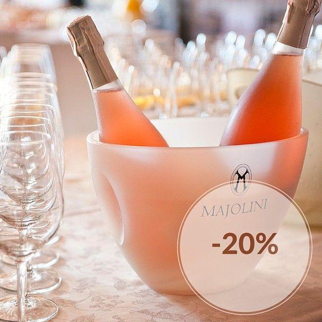 Brinda con #Majolini per #Expo2015! Fino al 10 giugno, sconto del 20% sulle bollicine #Franciacorta della Cantina Majolini! Il codice promo è EXPOMAJOLINI20: non perdere questa occasione!