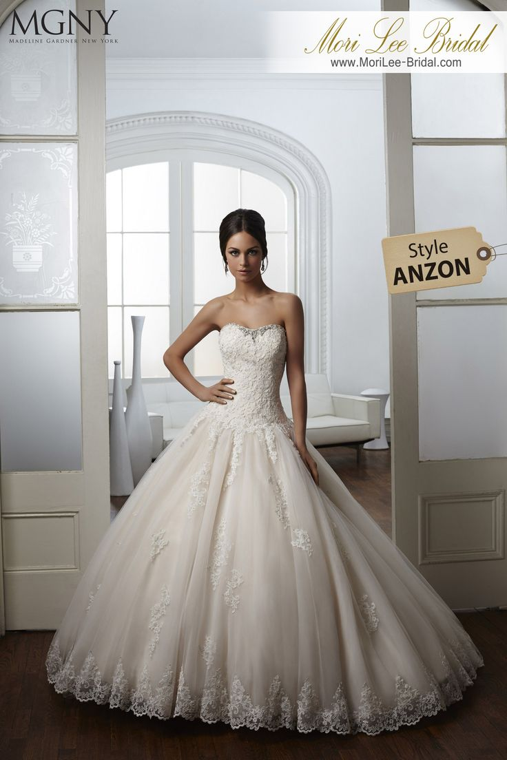 Dress Style ANZON  Wedding dress is a dress style that amazes the amplitude princess skirt, and by combining classic and avant-garde elements, resulting in a gorgeous dress. Available colors: white, ivory, light gold. Inventario de Bogotá Talla 8 Color Ivory