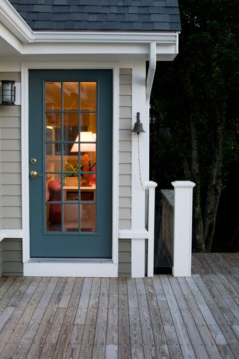 painted back door, captains bell; RFD Architects | Fair Winds Seaside Renovation