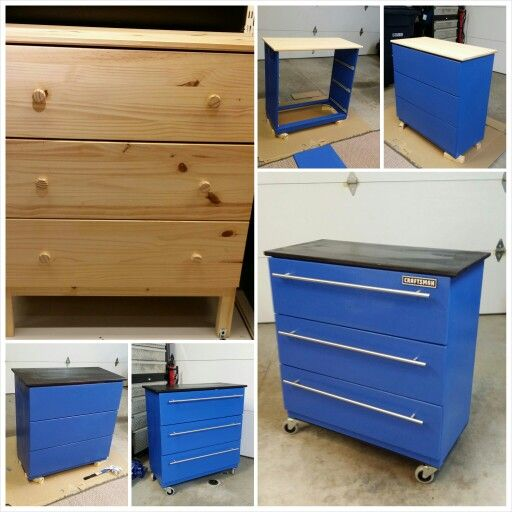 Tool box dresser that my awesome hubby made!
