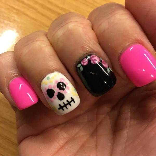 22 best sugar skull nail art designs images on pinterest html western sugar skull nail art designs for beginners prinsesfo Image collections