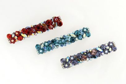 Portofino Italian Swarvoski crystal hair barrettes | Luxury Hair Accessories - Stone Bridge