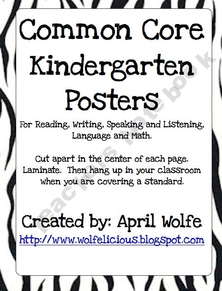 common core posters: Common Cores Posters, Picture-Black Posters, Posters Prints, Kindergartens, Teachersnotebook Com 47, Common Cores Kindergarten, Kindergarten Postersprint, America Schools, Posters Kindergartenclassroom