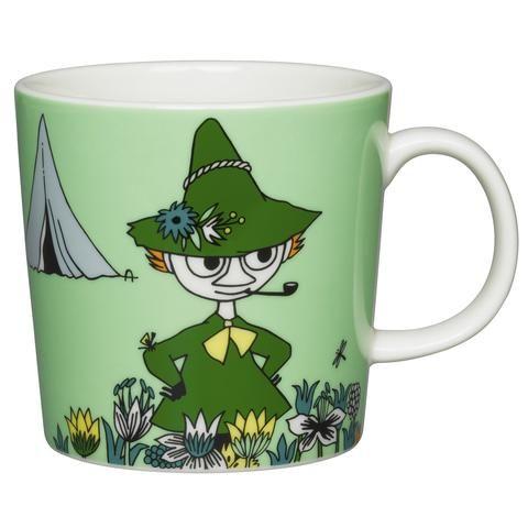 Green Snufkin mug by Arabia