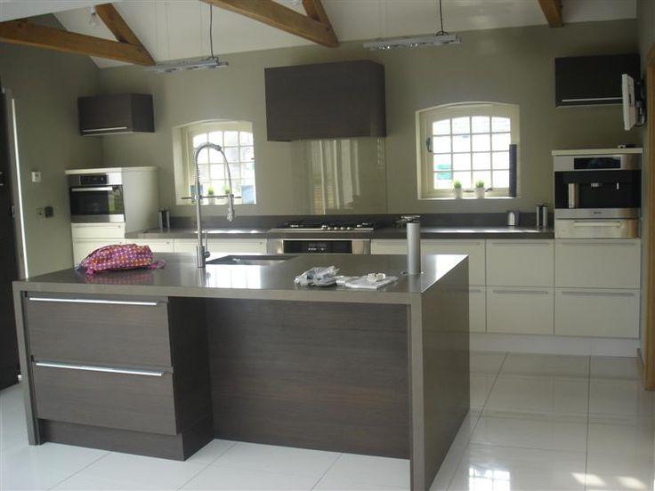Silestone unsui quartz kitchen island and worktops by the - Silestone showroom ...