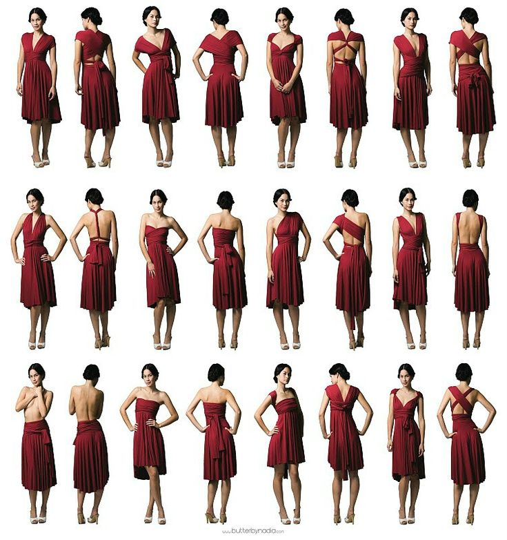 Ways to wear it: infinity dress