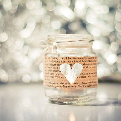 DIY Windlichter mit Sternen, Herzen ... mit Stoff, Papier oder Tape versehen ...