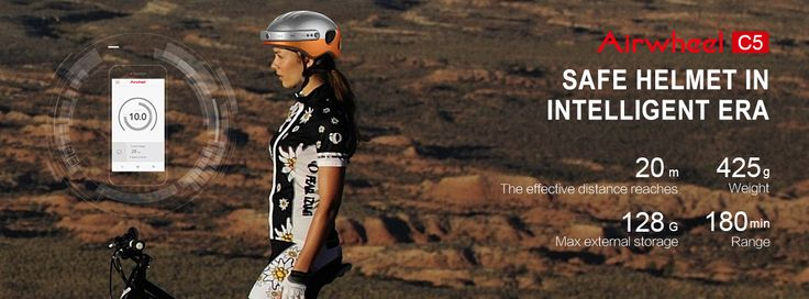 Airwheel C5 smart sport helmet with camera Makes People to Consider Helmet in a New Fash...