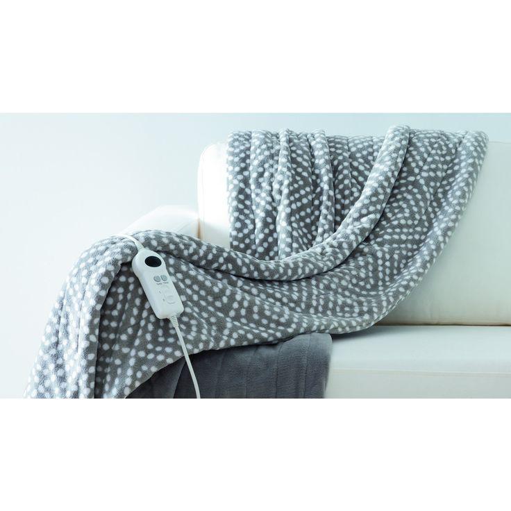 Heated Throw Blanket - Grey                                                                                                      | KmartNZ