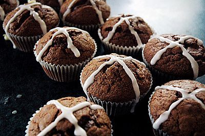 Hot Cross Easter Muffins