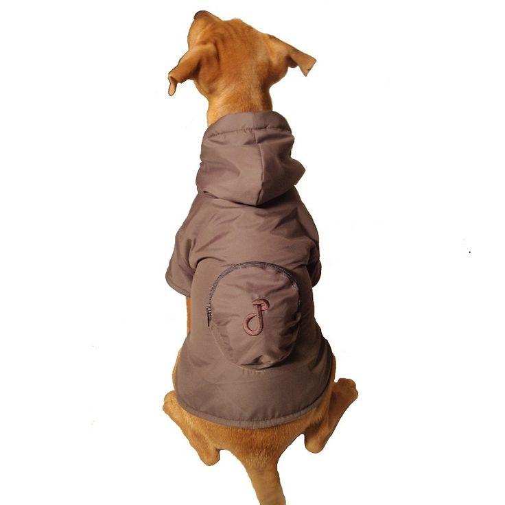 Pac-a-Mac Dog Raincoat in Chocolate Brown £21.99 #dograincoat #dogcoat