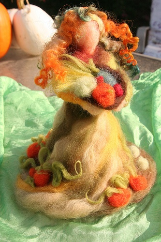 Needle-Felted Harvest Mother, message me if you'd like to order one for your autumn nature table.
