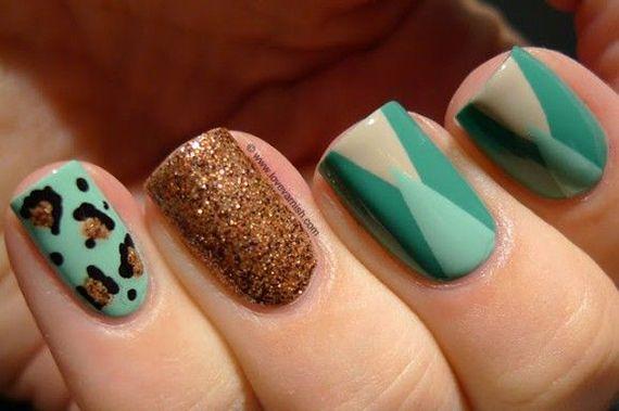 42 Fotos de uñas color verde - Green Nails   Decoración de Uñas - Manicura y Nail Art