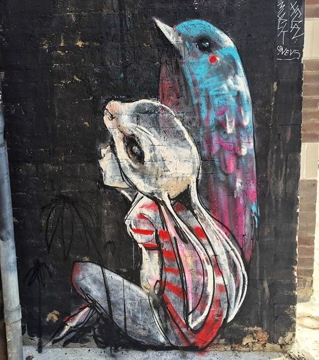 Best Street Art Images On Pinterest Street Art Drawings And - Clever free bird see graffiti spotted in chicago leads to a creative surprise
