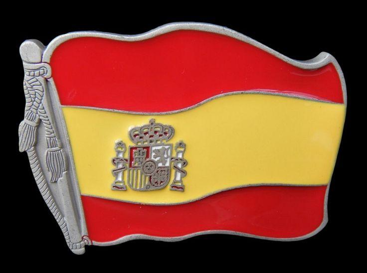 Spanish Flag Belt Buckle Spain Soccer Team Flags Metal Buckles Hebilla Cinturon