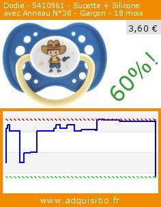 Dodie - 5410961 - Sucette + Silicone avec Anneau N°38 - Garçon - 18 mois (Puériculture). Réduction de 60%! Prix actuel 3,60 €, l'ancien prix était de 9,01 €. http://www.adquisitio.fr/dodie/sucette-anatomique-7