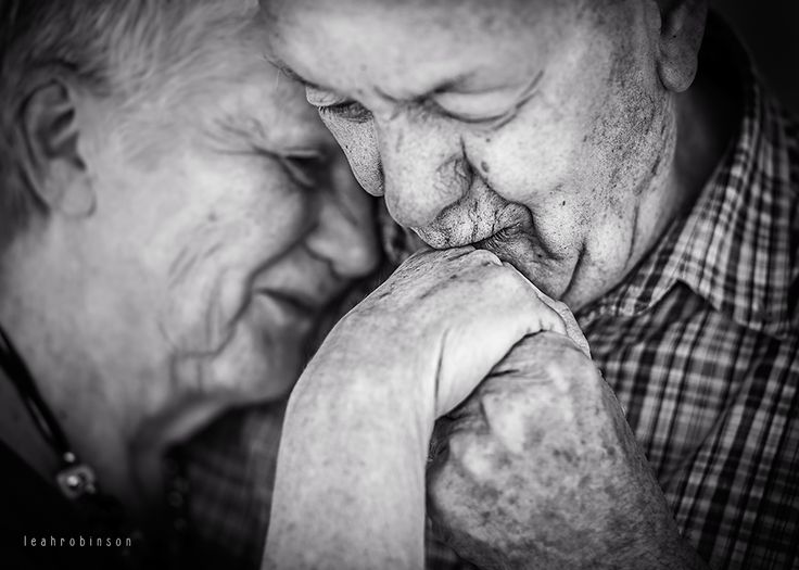 Elderly; Love; Black and White; Leah Robinson Photography