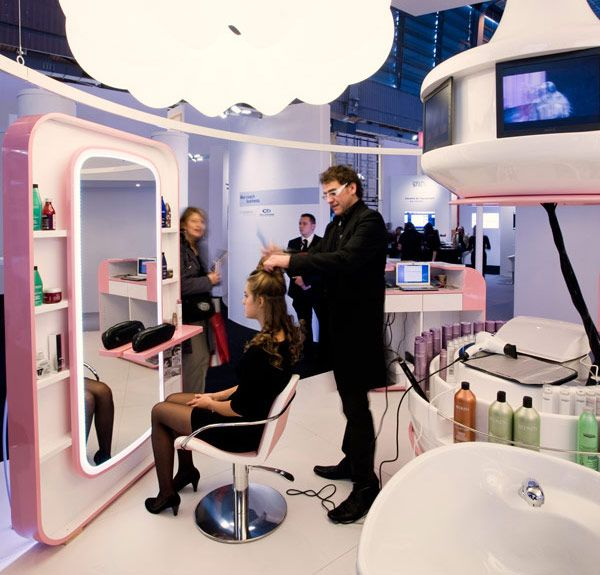 StyleMinuteLab. Female Concept Salon and furniture at MCB 2010 Paris for L'Oreal Paris DPP// design enrico girotti