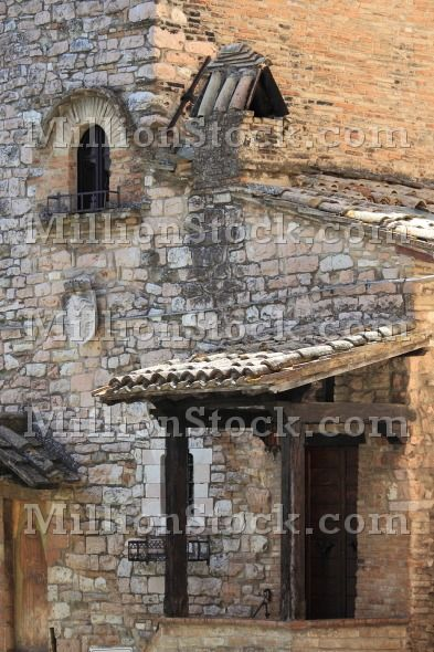 Medieval corner in Assisi, Italy