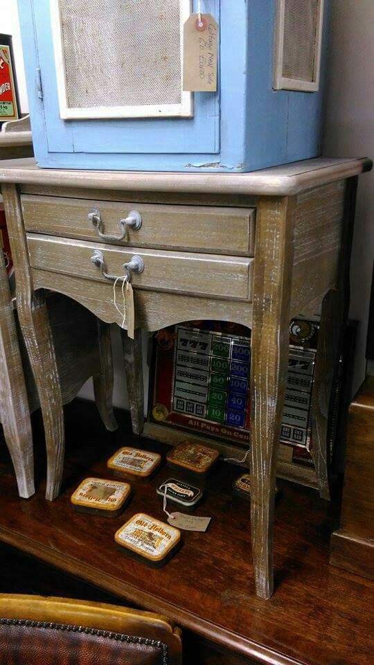 shabby chic lockers / lamp tables - two in stock - more can be ordered 85 euros each - these units are new