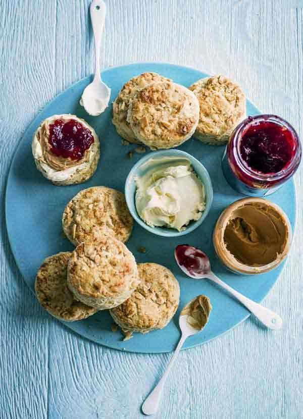 Peanut butter and jelly scones - PBJ is a classic, combined with an English classic to make peanut butter and jelly scones it's sure to be a new favourite.