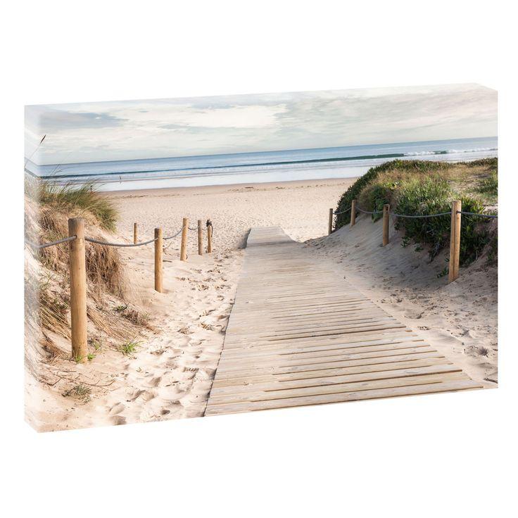 Weg zum Strand Bild Strand Meer Keilrahmen Leinwand Poster XXL 120 cm*80 cm 623 von Querfarben auf Etsy