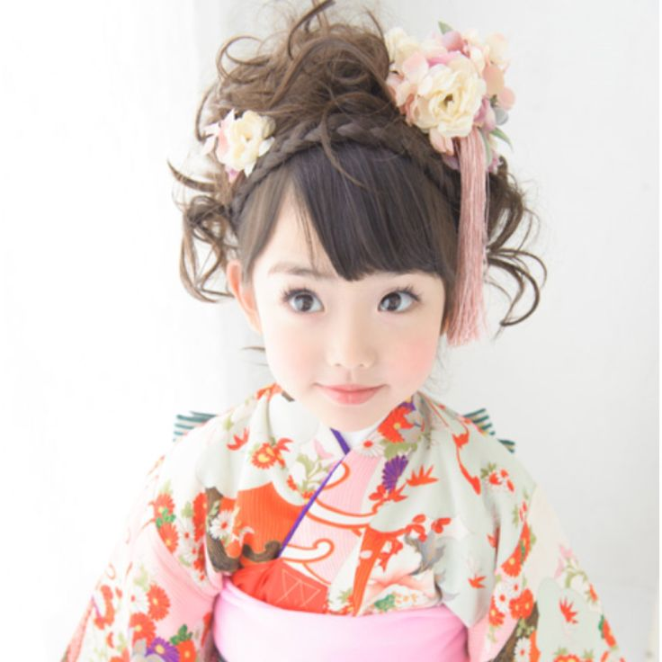 little cute kimono girl for 七五三(753: Japanese celebration)