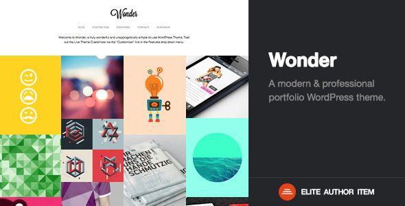 Wonder | Professional WordPress Portfolio Theme - Portfolio Creative