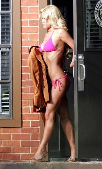 More super blondness and tan!  Not to mention that body!