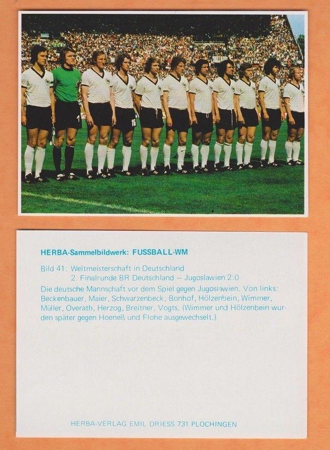 WEST GERMANY TEAM 1974 WORLD CUP FOOTBALL STICKER (B)  | eBay